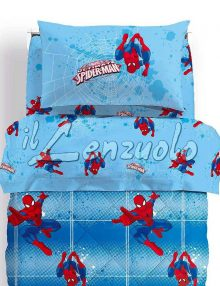 Completo-lenzuola-letto-singolo-spider-man-power