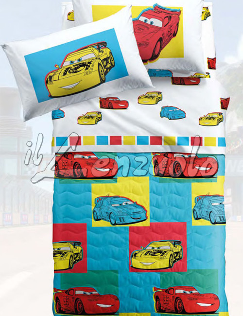 Copriletto trapuntato disney cars friends in microfibra - Letto cars disney ...