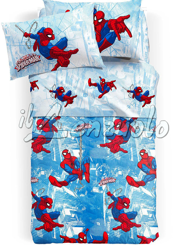 Copriletto trapuntato marvel letto singolo spiderman graphic - Letto di spiderman ...