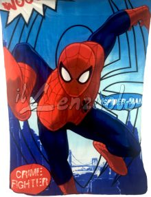 Plaid PolarFleece-Coperta SPIDER MAN di Marvel cm 100x150.