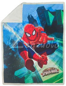 Plaid-coperta-sherpa Spiderman
