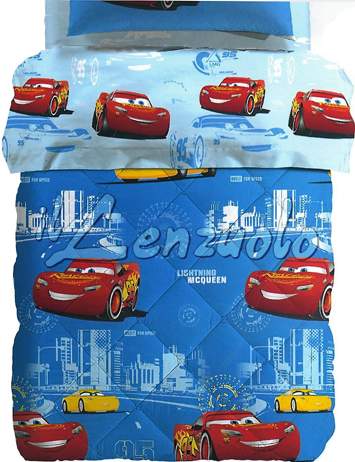 Cars record trapunta disney letto singolo in microfibra di caleffi - Letto cars disney ...
