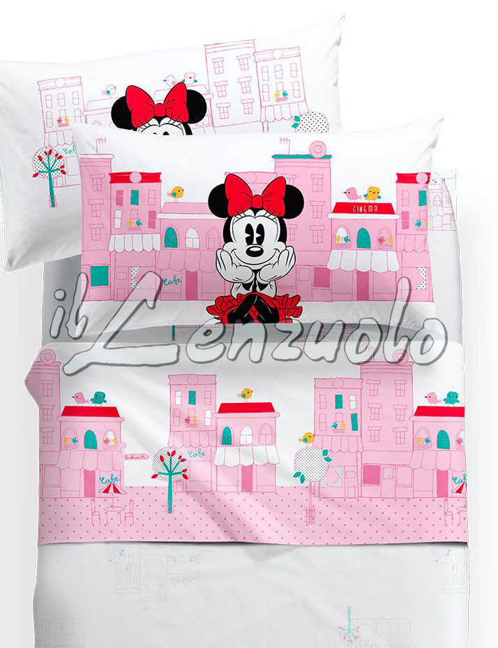 Lenzuola Letto Matrimoniale Disney.Lenzuola Singole Disney Minnie City By Caleffi