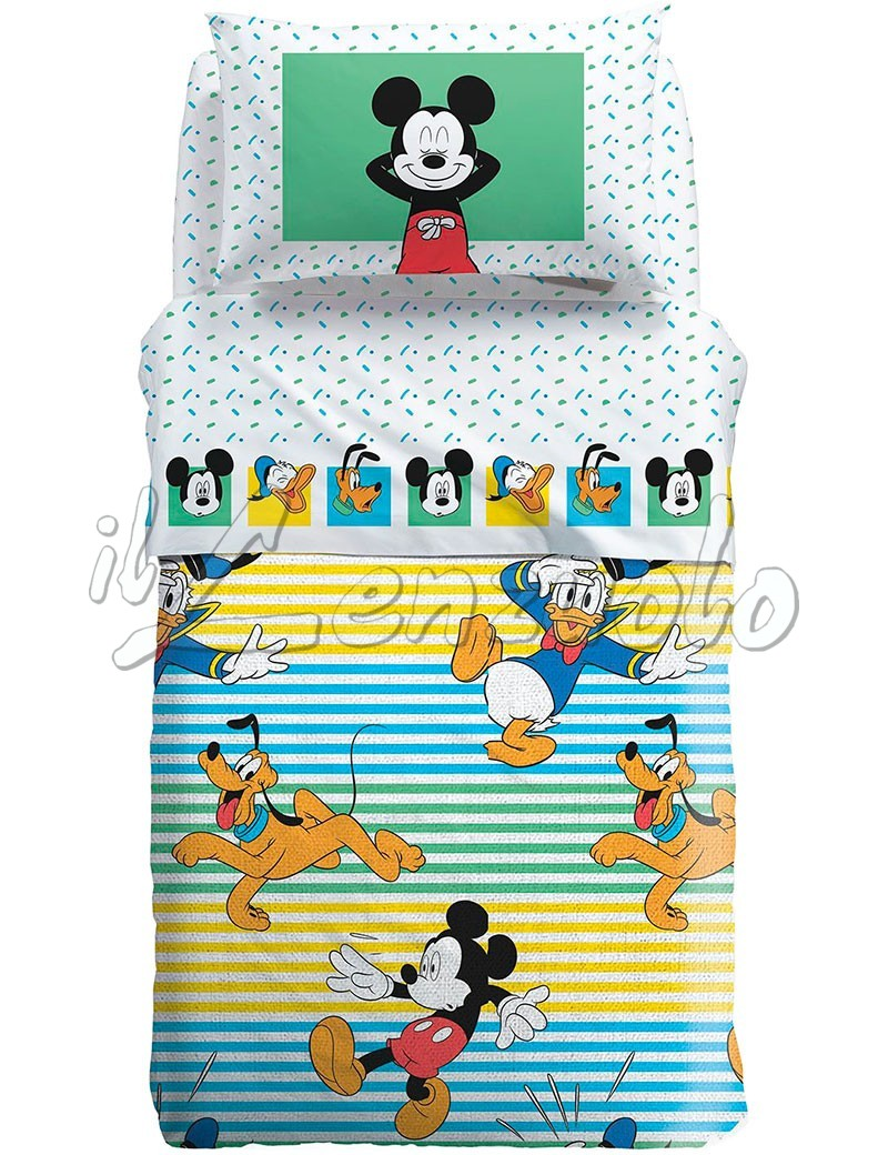 Copriletto Cotone Singolo Disney.Copriletto Singolo Disney Mickey Estate In Panama Di Cotone